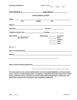 The purpose of this form is to document any signs of disease. Best practice is to document that upon examination the subject shows no physical signs of disease. The examination usually captures a subject's vital signs, e.g., blood pressure, pulse, weight, which must be within certain protocol defined parameters to be eligible for study participation.