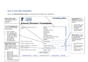 How to View Web Timetables School/Division to View
