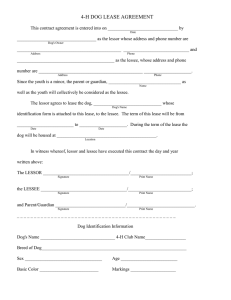 Dog Lease Agreement