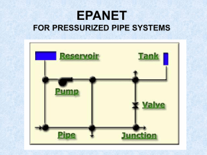 Using EPANET for Irrigation System Design
