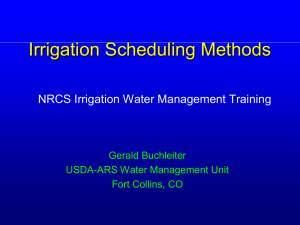 Irrigation Scheduling Methods