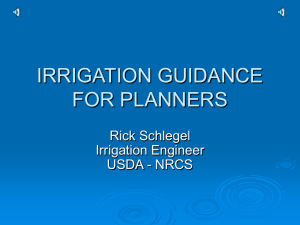 Irrigation Planning in Oklahoma