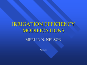 Irrigation Efficiency Modifications