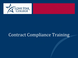 Contract Compliance Training