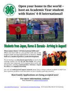 Open your home to the world – with States' 4-H International!