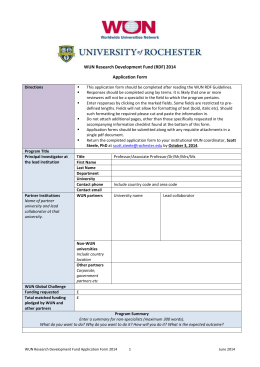 RDF Application Form