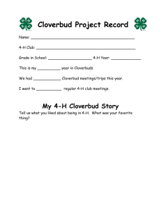 Cloverbud Project Record