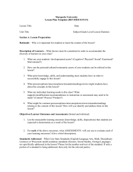 Lesson Plan Template Kennesaw State University - University lesson plan template