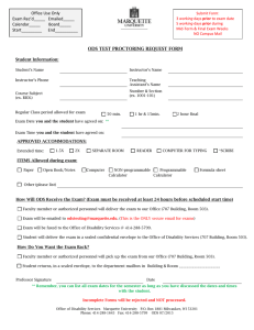 Test Proctoring Request Form
