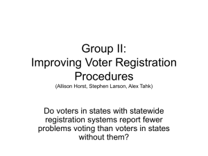 Comments on Group II, Improving Registration Procedures (PowerPoint presentation)