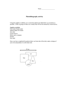 Photolithography activity