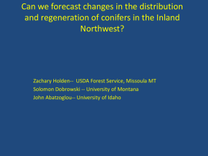 Can we forecast changes in the distribution Northwest?