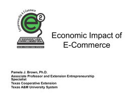 Economic Impact of E-Commerce