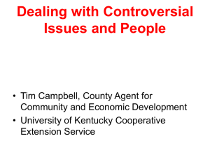Dealing with Controversial Issues and People