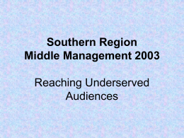 Researching Underserved Audiences
