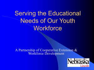 Serving the Educational Needs of Our Youth Workforces: Collaboration Cooperative Extension and Department of Labor