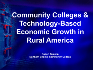 Community Colleges Technology-Based Economic Growth in Rural America