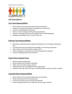 Job Descriptions Core Team Responsibilities