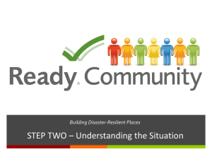 STEP TWO – Understanding the Situation Building Disaster-Resilient Places