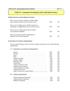 Handout Two - Community Participation & Leadership Inventory