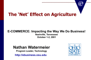 The 'Net' Effect on Agriculture - Nathan Watermeier