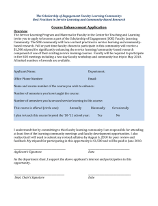 Applications for Course Enhancement Stipends