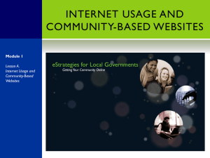 Lesson A. Internet Usage and Community-Based Websites