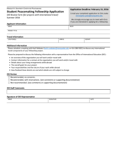 OIE Review Form