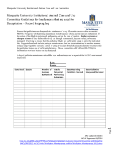 Marquette University Institutional Animal Care and Use