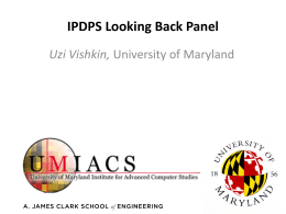 IPDPS Looking Back Panel Uzi Vishkin,