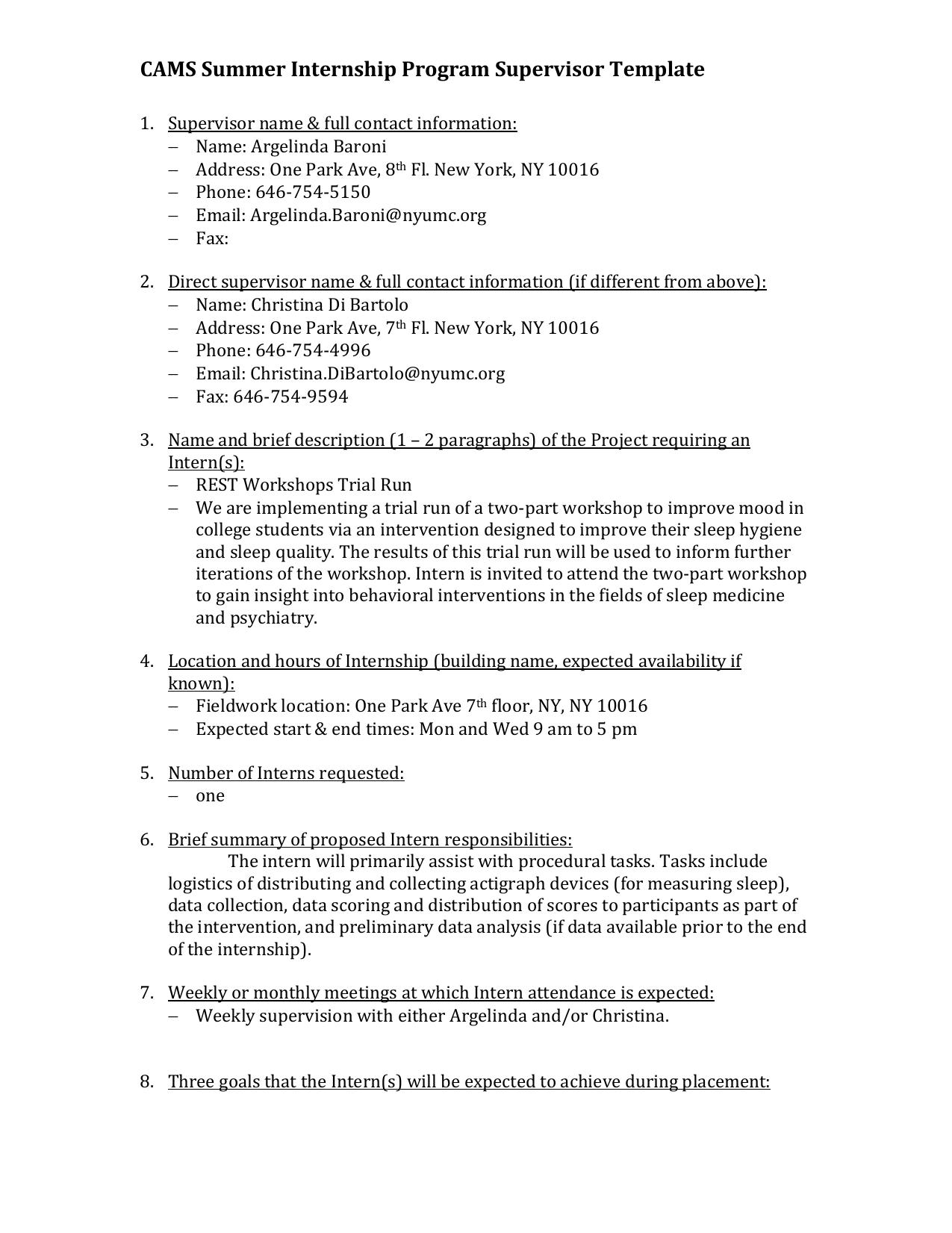 intern program template
