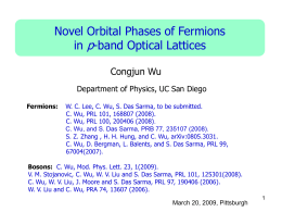 "<span style+""font-weight: bold;""> ""Novel orbital physics with fermions in optical lattices"""