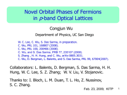"""Novel orbital physics with fermions in optical lattices"","