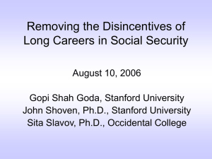 Removing the Disincentives of Long Careers in Social Security