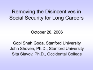 Removing the Disincentives in Social Security for Long Careers