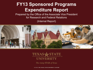 FY13 Expenditure Report