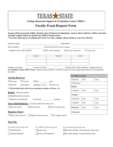 Faculty Exam Request Form