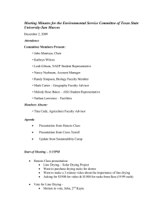 Meeting Minutes for the Environmental Service Committee of Texas State