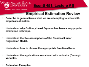 Empirical Estimation Review 1