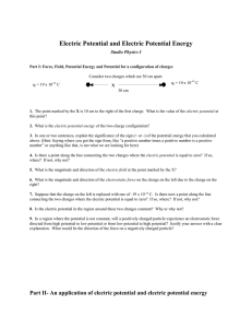 Electric Potential and Electric Potential Energy Studio Physics I q
