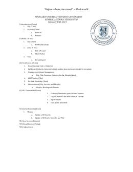 Agenda February 13