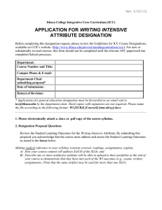 Download ICC Writing Intensive Attribute Form