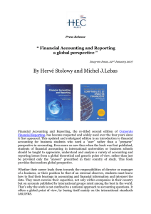 "By Hervé Stolowy and Michel J.Lebas  "" Financial Accounting and Reporting"