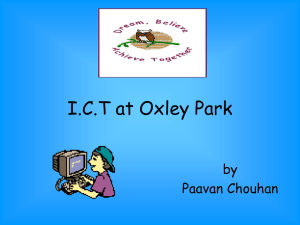 What children think about ICT at my school, by Paavan Chouhan aged 11
