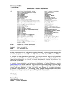 Minor Works Notification Letter 2015