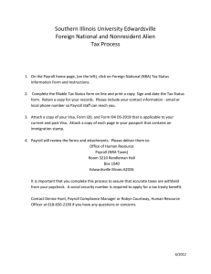 Southern Illinois University Edwardsville Foreign National and Nonresident Alien Tax Process