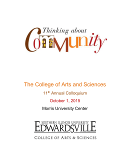 The College of Arts and Sciences 11 Annual Colloquium October 1, 2015