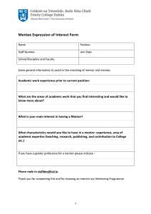 Mentee Expression of Interest Form