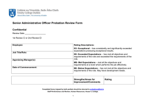 Senior Administrative Officer Probation Review Form Confidential