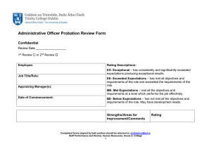 Administrative Officer Probation Review Form Confidential